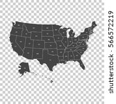 usa map with federal states.... | Shutterstock .eps vector #566572219