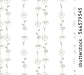 seamless pattern with leaves.... | Shutterstock .eps vector #566579545