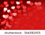 red and white hearts bokeh as... | Shutterstock . vector #566582455