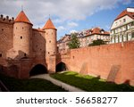 view towards the old town of... | Shutterstock . vector #56658277