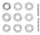 sketch sun  hand drawn sunshine ...   Shutterstock .eps vector #566585431