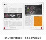 business magazine | Shutterstock .eps vector #566590819