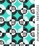 seamless geometric retro pattern | Shutterstock .eps vector #566591101