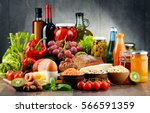 composition with variety of... | Shutterstock . vector #566591359