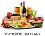 composition with variety of... | Shutterstock . vector #566591371