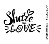 words share the love. vector... | Shutterstock .eps vector #566591644