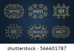 set of luxury insignias... | Shutterstock .eps vector #566601787