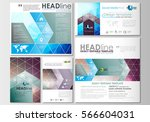 social media posts set.... | Shutterstock .eps vector #566604031