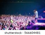 blurry crowded dancefloor in... | Shutterstock . vector #566604481