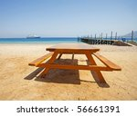 View From A Tropical Beach Wit...
