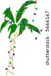 holiday christmas palm tree   Shutterstock .eps vector #5666167