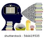 eidetic memory concept. student ... | Shutterstock . vector #566619535