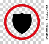 shield rounded icon. vector... | Shutterstock .eps vector #566622955