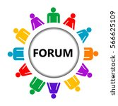forum icon with group of... | Shutterstock . vector #566625109