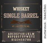 font script typeface single... | Shutterstock .eps vector #566625361