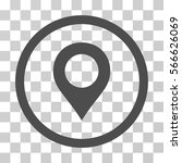 map marker rounded icon. vector ... | Shutterstock .eps vector #566626069
