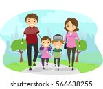 stickman illustration featuring ... | Shutterstock .eps vector #566638255