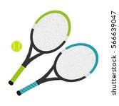 tennis rackets  tennis rackets... | Shutterstock .eps vector #566639047