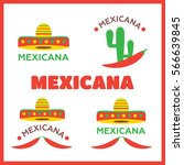 mexican food logo. mexican fast ... | Shutterstock .eps vector #566639845