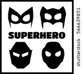 super hero masks set. superhero ... | Shutterstock .eps vector #566639851