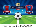 vector of soccer league with... | Shutterstock .eps vector #566640019