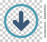 arrow down rounded icon. vector ... | Shutterstock .eps vector #566644021