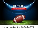 american football field with... | Shutterstock .eps vector #566644279