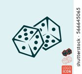 dice icon. two game dices.... | Shutterstock .eps vector #566645065