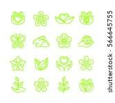 organic  eco friendly  not... | Shutterstock .eps vector #566645755