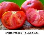 Mature tomato. - stock photo