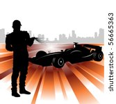 formula and race car | Shutterstock .eps vector #56665363