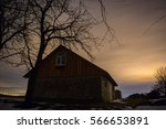 old home and stars | Shutterstock . vector #566653891