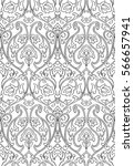 black and white floral pattern. ... | Shutterstock .eps vector #566657941