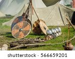 military tent camp at the... | Shutterstock . vector #566659201