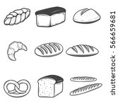 bread icons illustrations... | Shutterstock .eps vector #566659681