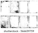 set of the vector grunge... | Shutterstock .eps vector #566659759
