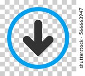 arrow down rounded icon. vector ... | Shutterstock .eps vector #566663947