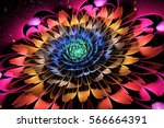 abstract exotic flower with... | Shutterstock . vector #566664391