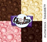 aerated chocolate seamless... | Shutterstock .eps vector #566668879