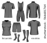 men's sport clothes. collection ... | Shutterstock .eps vector #566681764