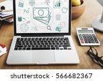 finance information strategy... | Shutterstock . vector #566682367