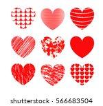 set of hearts. | Shutterstock .eps vector #566683504