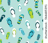 flip flop color summer pattern. ... | Shutterstock .eps vector #566685391