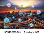 smart city and wireless... | Shutterstock . vector #566699425