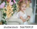 portrait of the little girl in... | Shutterstock . vector #566700919