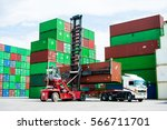 technicians or workers who are... | Shutterstock . vector #566711701