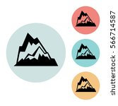 mountain icon isolated vector...
