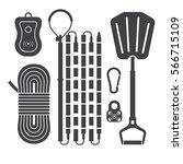 avalanch rescue kit outline...   Shutterstock .eps vector #566715109