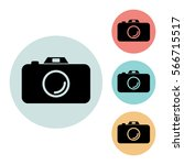 camera icon isolated vector...