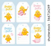 easter day labels set.... | Shutterstock .eps vector #566716249